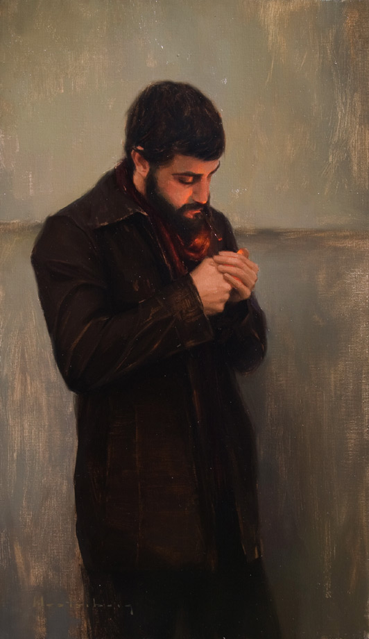 Solitary Light, original oil painting by Aaron Westerberg