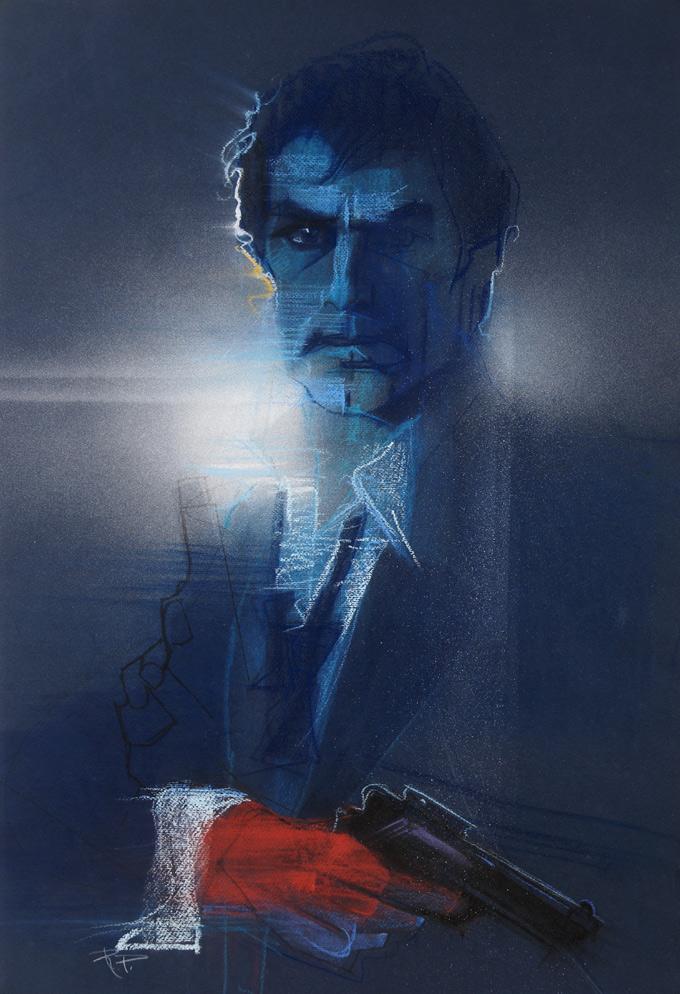 007 Bond License to Kill, movie art by Bob Peak