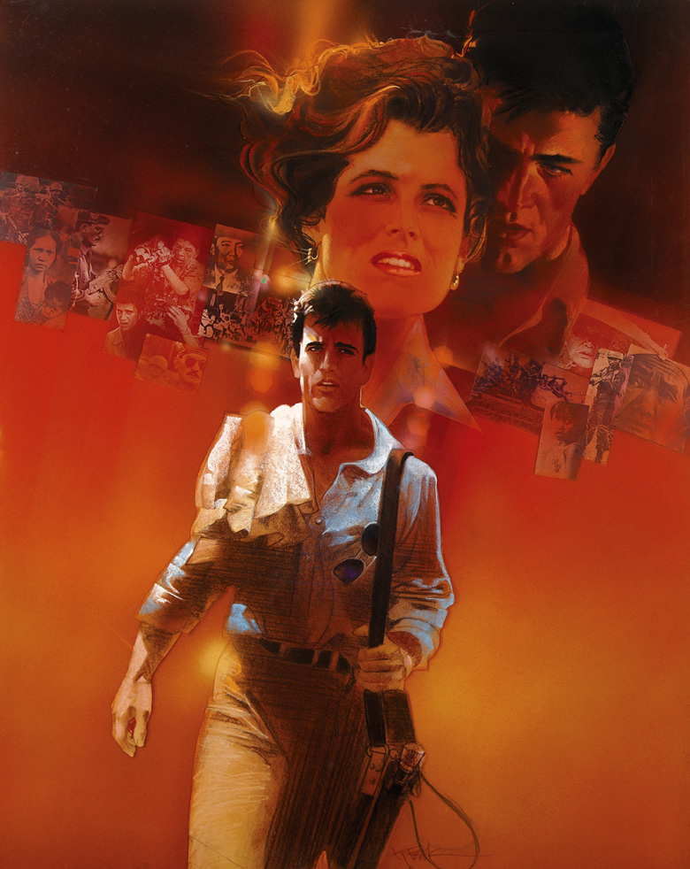 The Year of Living Dangerously, alt. movie poster art by Bob Peak