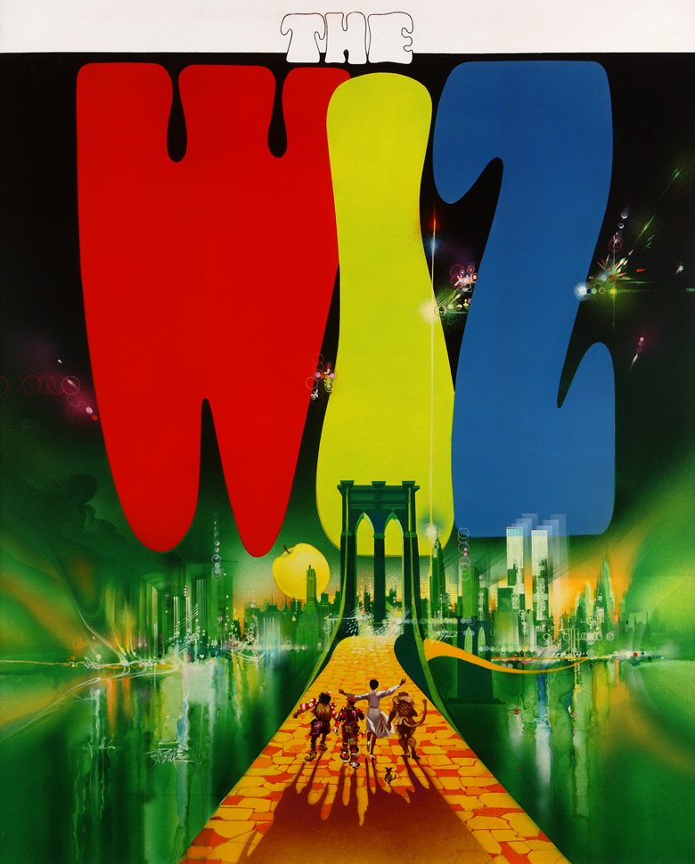 The Wiz, original movie poster art by Bob Peak
