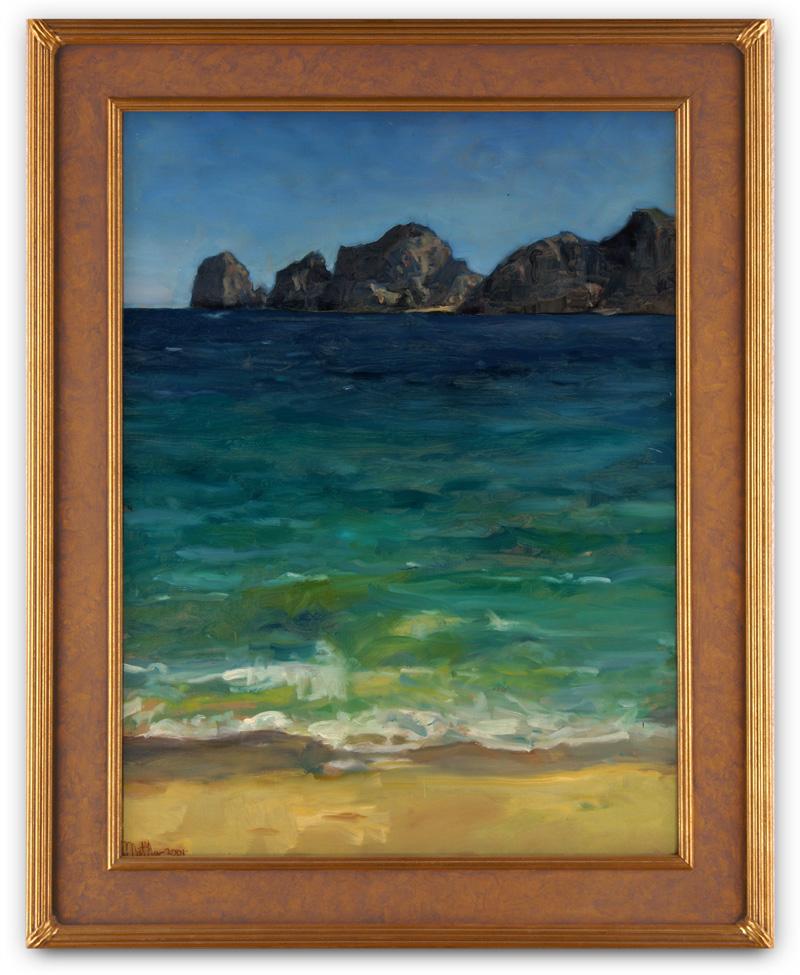 Cortez Agua, plein air oil painting by Matthew Joseph Peak from Cabo San Lucas