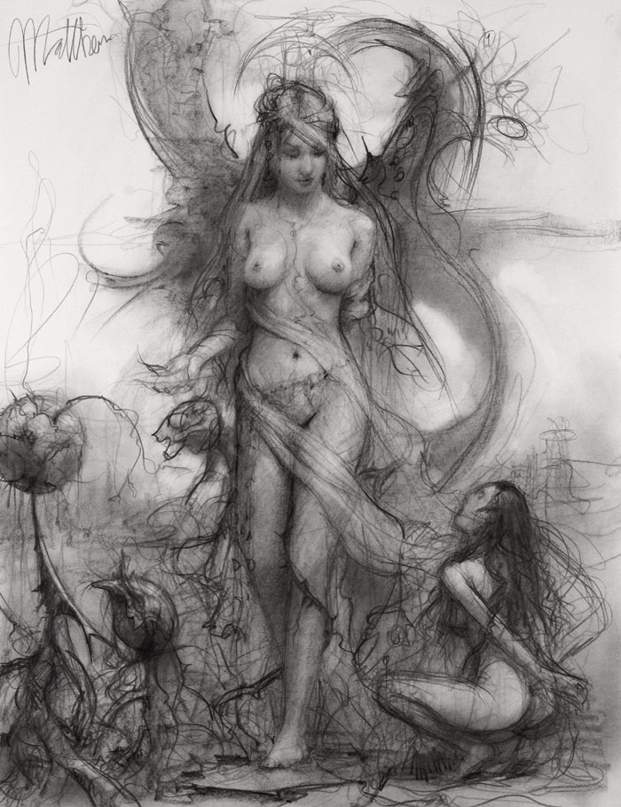 Wanted One, drawing by Matthew Joseph Peak - Creatures of Enchantment show