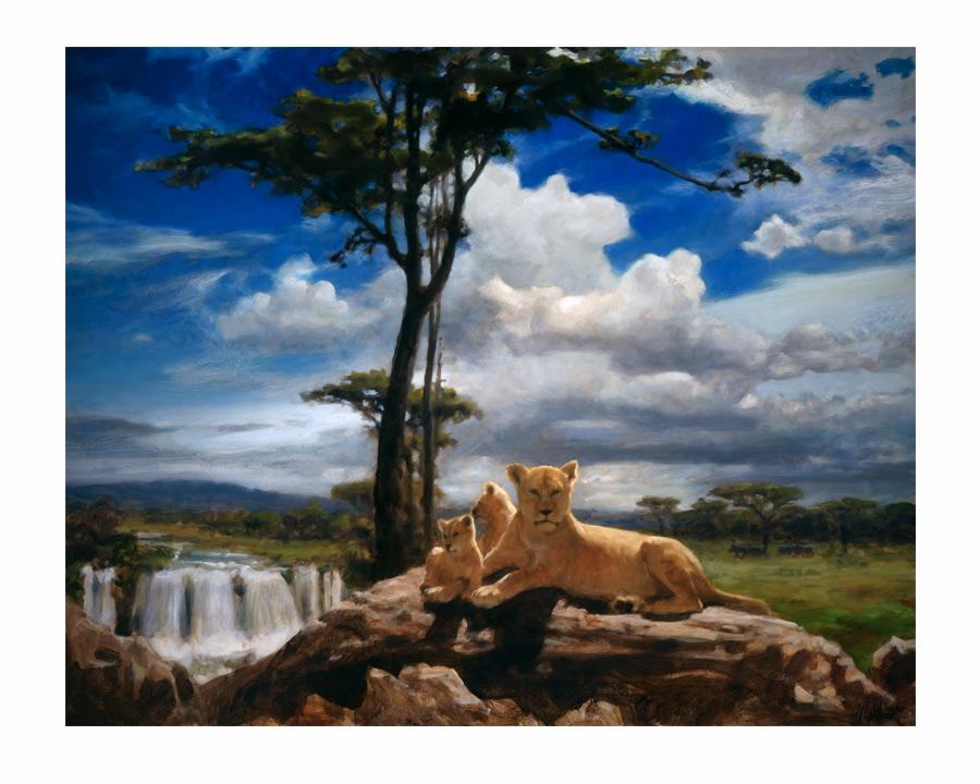 Born Free, limited edition giclee by Matthew Joseph Peak